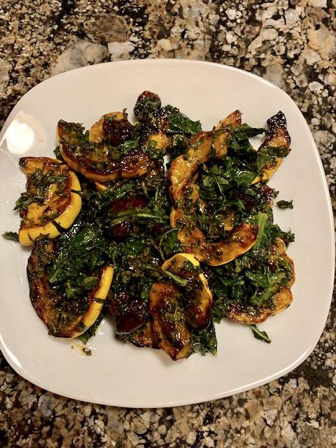 Festive Kale & Squash Salad