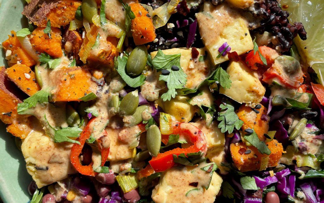 Veggie Almond Bowl – Serves 4